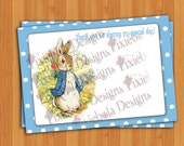 Peter Rabbit Thank You Card Polka Dot For All Occasions