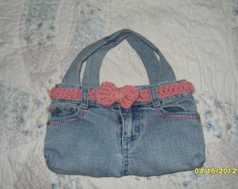 Handmade  Denim Cosmetic Bag