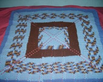 Hand chrochet baby blanket