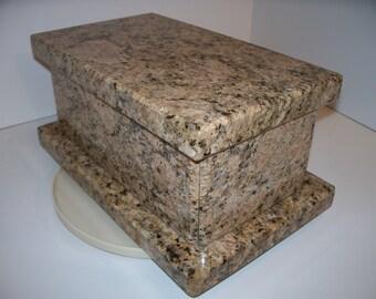 Stone Handmade Wedding Box Keepsake Box Cremation Urn     Baby Box Time Capsule