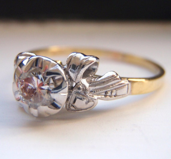 CONGRATULATIONS JENNIFER and  DUSTIN  Vintage Diamond Engagement Ring Resize.