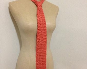 MADE TO ORDER men's crochet necktie