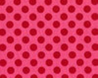 SALE Michael Miller Pink & Red Ta Dot 1 yard cut