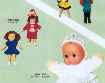 """PDF Vintage Knitting Patterns for Dolls - 10"""" to"""" 20"""" in Double Knit"""