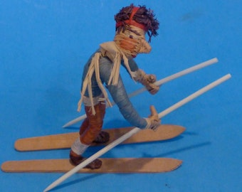 FUNNY  SKIER DOLL from Germany