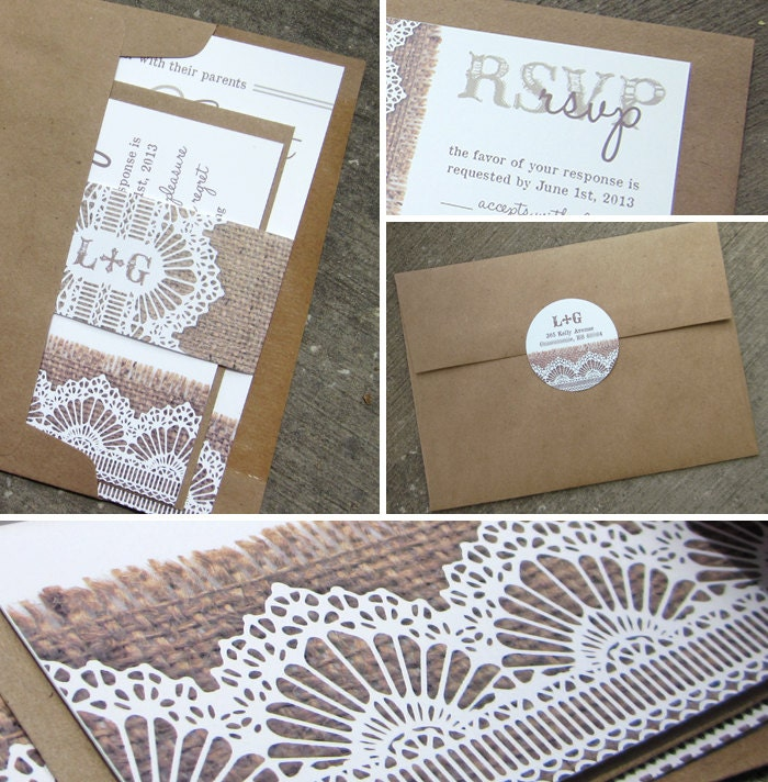 Lace And Burlap Wedding Invitations correctly perfect ideas for your invitation layout