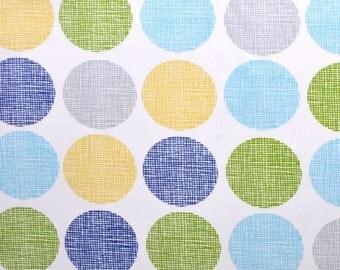 Monaluna Organic Fabrics Havana Collection One Yard of Gum Drops in Blue