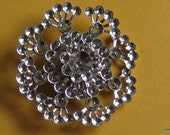 Customize your own Vintage Rhinestone Brooch Setting Blank Pin 45MM Flower