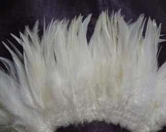 Natural White Rooster Hackle Wholesale Bulk Supply Hair Extension Craft Design