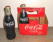 Vintage Coke Bottles, Coca-Cola Bottles, Full Bottles, Original Formula, Coke Carrier, Coca-Cola Classic, Coke Collectibles, Green Glass