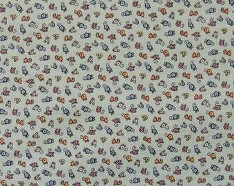 Mary Engelbreit OOP fabric - small egg flowers on light green