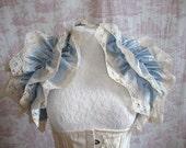 Steampunk Silk Ruffle Opera Shrug  ICE MAIDEN Lolita    Wedding By Ophelias Folly