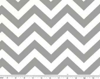 Grey and White Chevron Curtain Valance - 50x14 inches