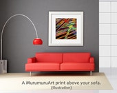 Etsy Sale -30% Art Print, ANDROMEDA, Large Abstract Art Print, 50 x 50 cm