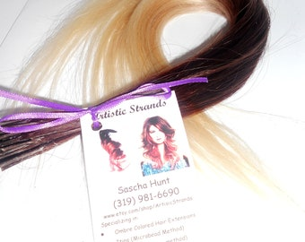 300 Itips -100 Percent REAL Remy Human Hair - Prebonded Hair Extensions - Black/brown/blond Ombre / Full Head of Extensions