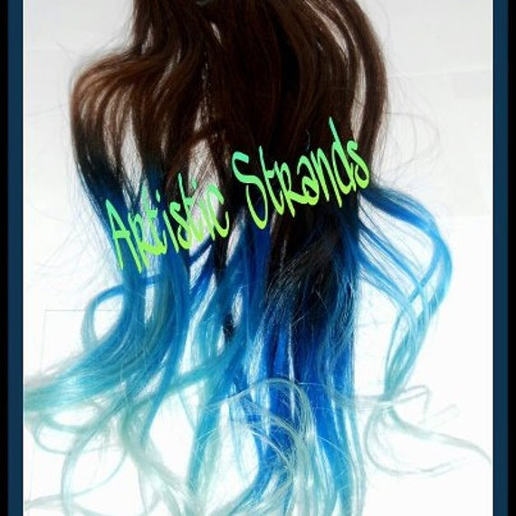 B L U E Dream by Artistic Strands //Ombre Hair Extension - Weft - Clip Ins - Ombre / Eight (8) Piece Set / Original Signature Hair Color