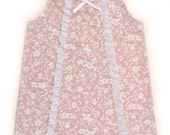 15% OFF 1st Purchase- Summer shabby chic pink and white baby dress (0-24mo.)