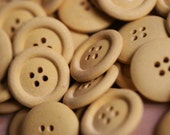 5 x 22mm Yellow Eco-Buttons made from recycled materials