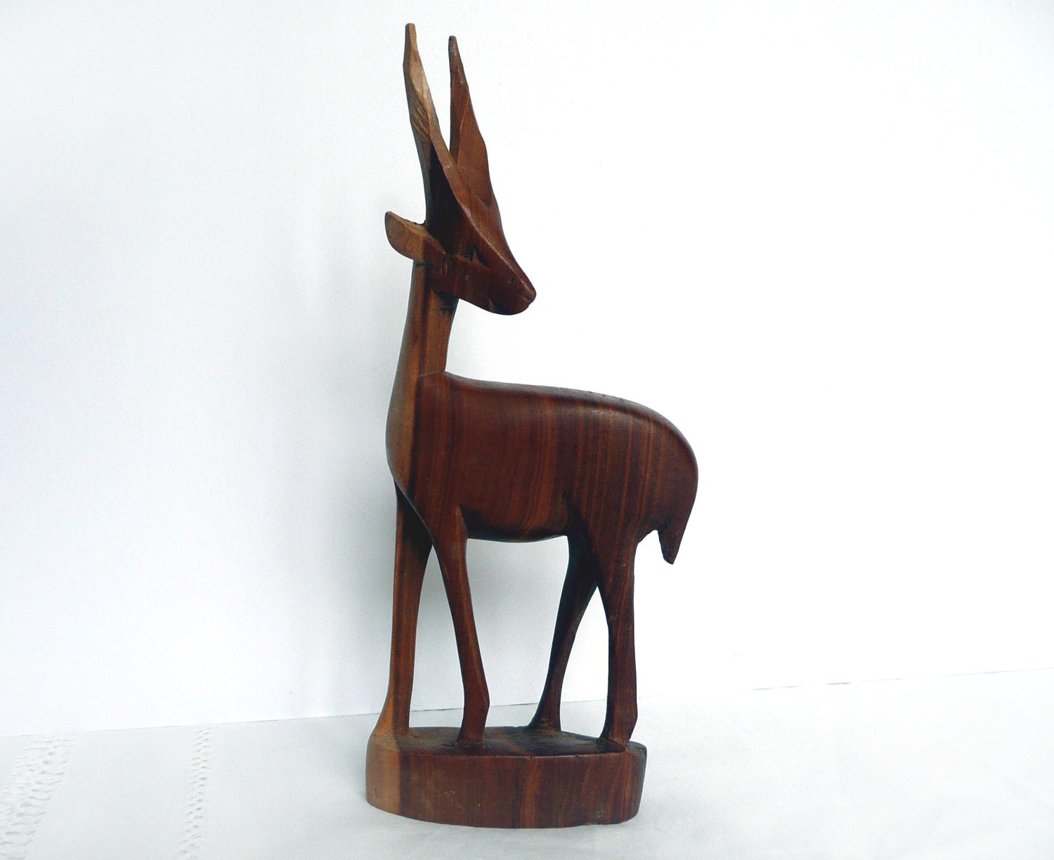 Carved teak antelope hand wooden by toastandmarmalade