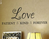 Love Patient Kind Forever Family Love Home Large Wall Decal Decor Decorative Vinyl Quote Sticker Saying Lettering Art Decoration F13