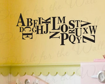 Alphabet Girl or Boy Room Kids Baby Nursery Vinyl Lettering Decoration Quote Wall Decal Saying Sticker Art Letters Decor B48