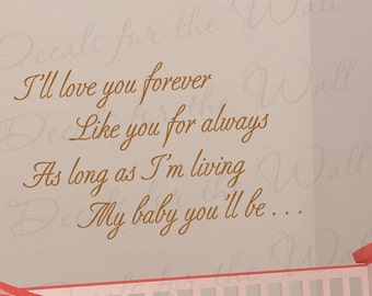 I Love You Forever I Like You For Always Quote Alluring Ill Love You Forever  Etsy