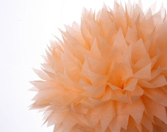 Peach 1 Large Tissue Paper Pom Poms