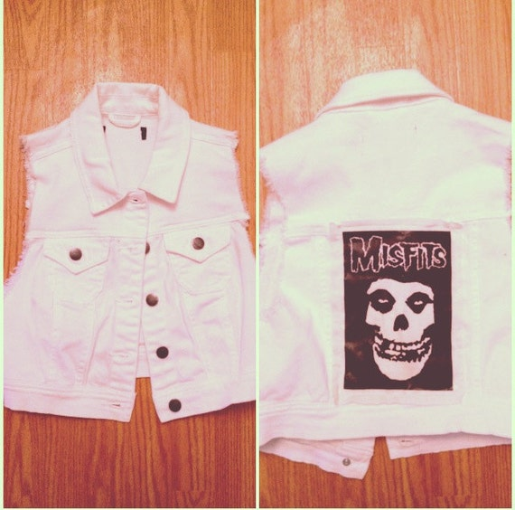 White Custom Misfits Vest XS/SMALL
