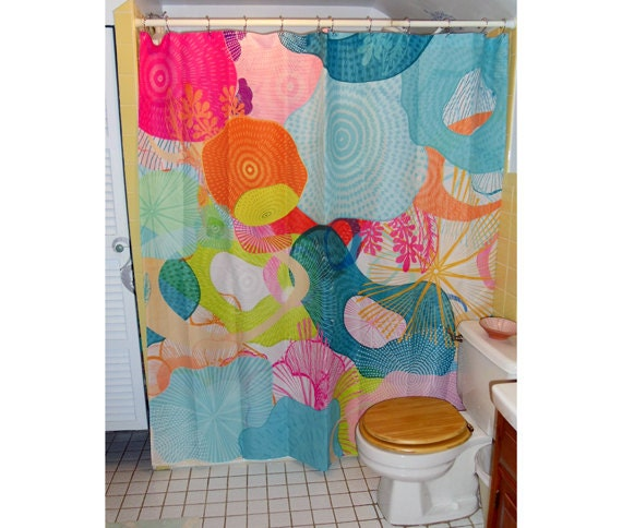 "Shower Curtain /Wall art - ""Toadstool Heaven"" 70""x74"" (eyelets are not standard size)"