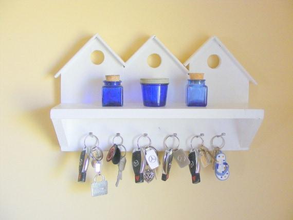 6 Hook Wall Key Holder Wall Mount Shelf By Thirstyduckcrafts