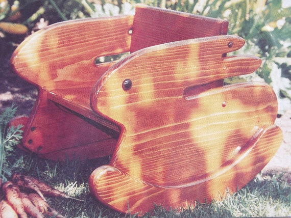 Pattern For Child's Or Doll's Wooden Bunny Rocking Chair