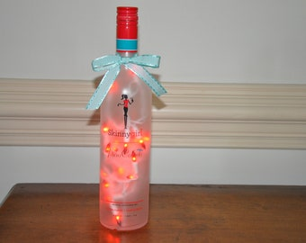Skinny Girl Pina Colada                             Lighted Glass Bottle Lamp