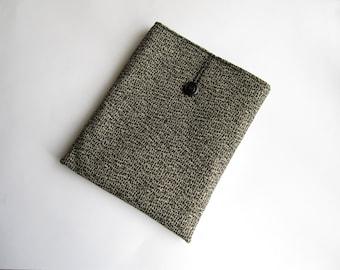 Black iPad sleeve, iPad case, iPad cover, handmade iPad sleeve, iPad smart cover