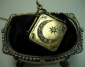 Antique Gold Locket, Watch Fob Necklace