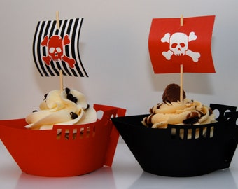 Pirate cupcake BOATS ONLY