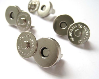 14mm Silver Magnetic Snaps Closures - Pack of 25sets