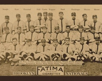 1913 Brooklyn Dodgers Team Picture - Digitally Remastered Fine Art Print