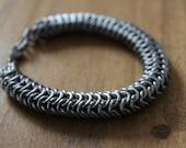 Titanium bracelet, chainmaille bracelet, titanium chainmail, unisex bracelet, unisex chainmail, roundmail,