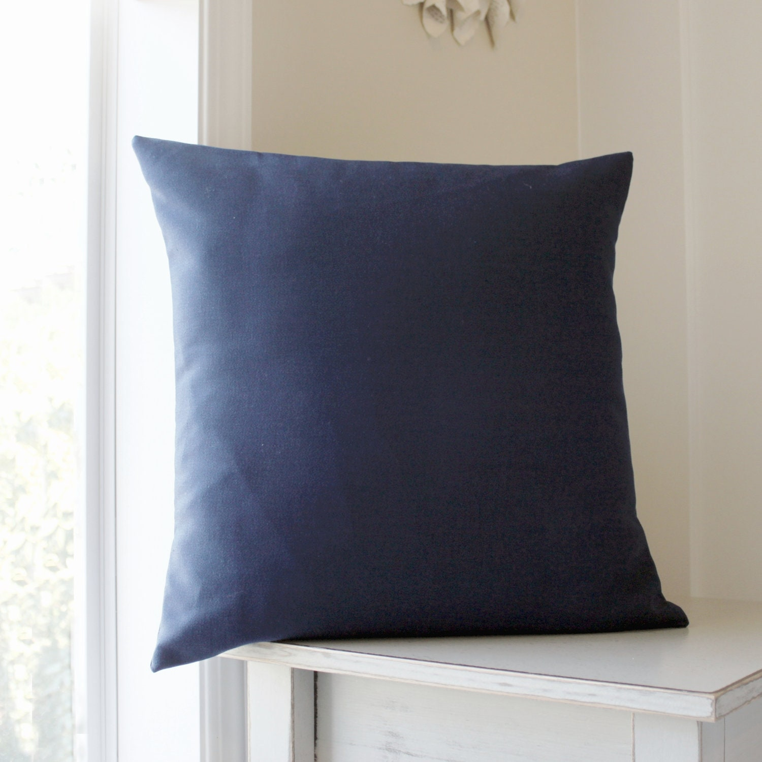 Navy Blue Decorative Pillow Covers : Blue Pillow Covers Solid Blue Decorative Throw Pillows Navy
