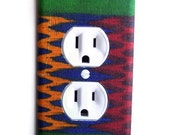 African Wax Print Outlet Plate, wall decor