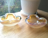 SALE - Vintage Pair of Murano Glass Bowls