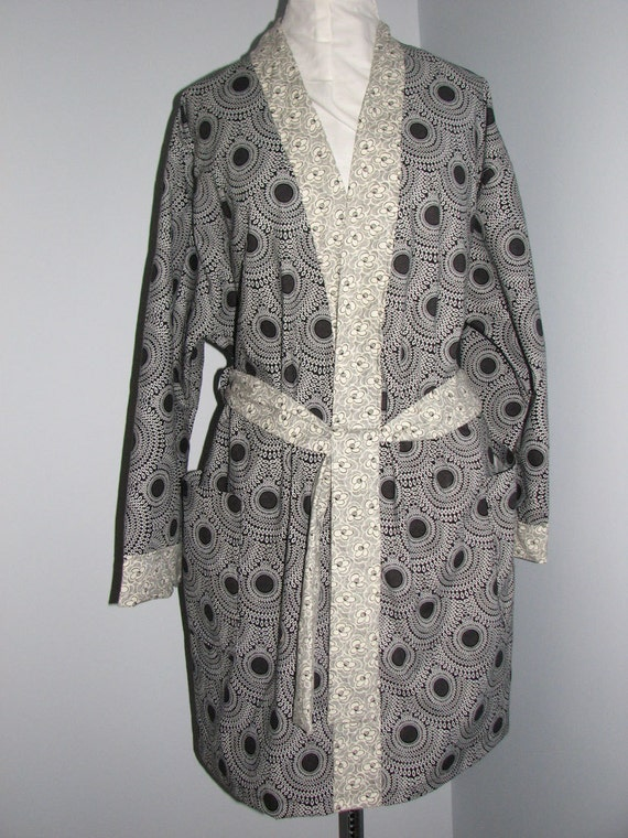 Asian inspired cotton spa/dressing robe LG/XL