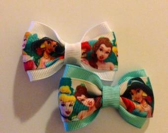 Princess Tea Party Hair Bow - 2 inches