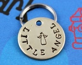 SMALL Dog or Cat Tag - Little Angel Nu Gold Dog ID Tag - Small Pet Tag - Other Metals Available