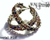 Jewelry Making Tutorial by VAI Designs Bead Woven Hoop Earrings PDF