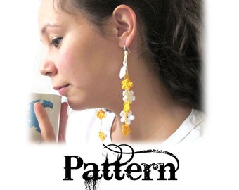 Crochet Earring Pattern - Spring Flowers