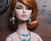 Poppy Parker fashion teen Ellowyne Sybarite dolls earrings necklace - Heritage pearls