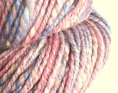 PINK DREAMS - Handspun hand dyed bulky merino, silk, alpaca and cashmere knitting yarn / wool