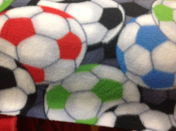 On Sale 3 Days Only!!!!Adult or Teen  double layer fleece Soccer Print Made to Order Blankets