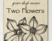 ETSY SHOP BANNERS Two Flowers Etsy Shop Banner Set